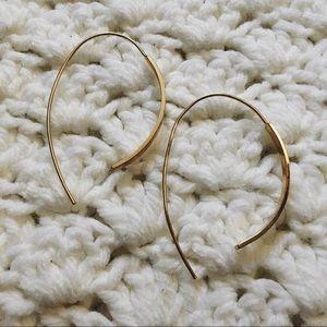 Interesting gold threader earrings